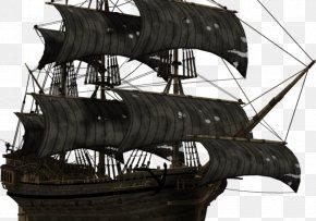 Ship - Caravel Ship Piracy PNG