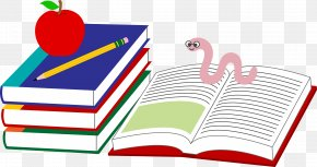 Schoolbooks Cliparts - Student School Textbook Clip Art PNG