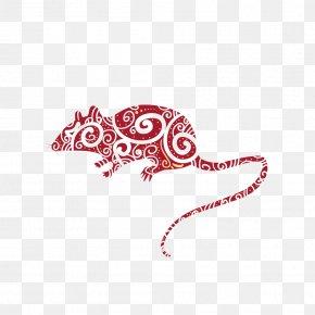 Zodiac Rat - Chinese Zodiac Rat Chinese New Year Illustration PNG