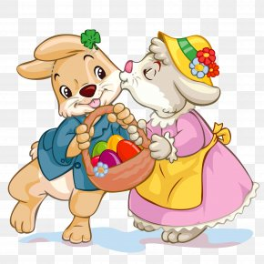 Easter Bunny - Easter Bunny Love Happiness Romance PNG