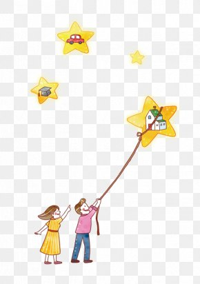 Child Flying A Kite - Child PNG