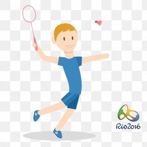 Men's Singles Badminton - 2016 Summer Olympics Rio De Janeiro Badminton Athlete PNG