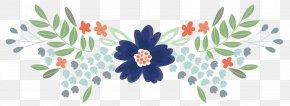 Watercolor Frame - Cut Flowers Floral Design Watercolor Painting Clip Art PNG