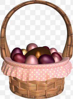Easter - Easter Bunny Easter Egg Basket PNG