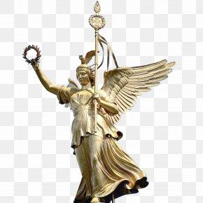 Angel Goddess Plaster Sculpture - Angels Berlin Sculpture PNG