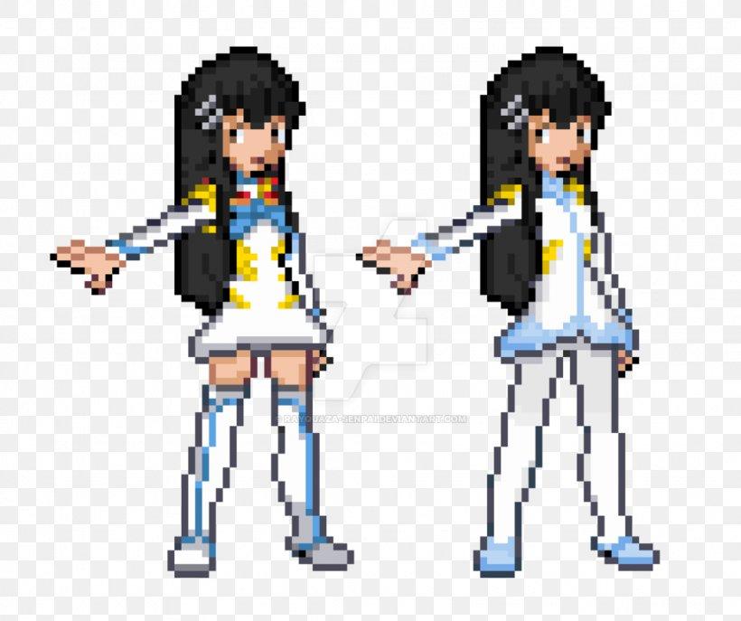 Pixel Art Satsuki Kiryuin Character Digital Art Png