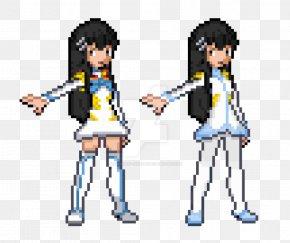 Pixel Art Pokemon Rayquaza - Pixel Art Satsuki Kiryuin Character Digital Art PNG
