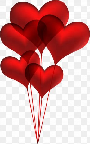 Valentine's Day - Balloon Heart Valentine's Day Clip Art PNG