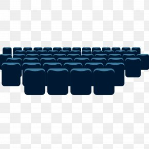 Blue Theater Seat Vector Material - Cinema Theatre Seat PNG