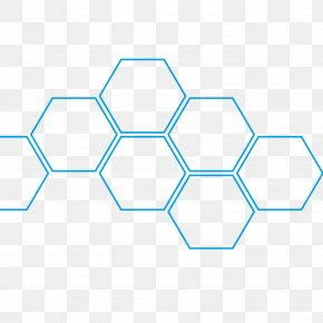 Science And Technology Dynamic Blue Background - Hexagon Honeycomb Fullerene Beehive Angle PNG