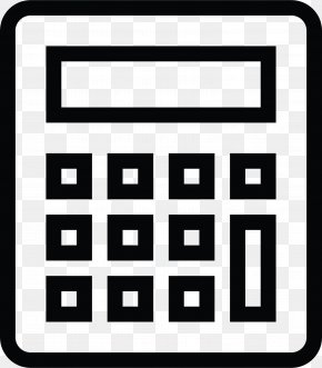 Calculator Icon - Vector Graphics Image Illustration PNG