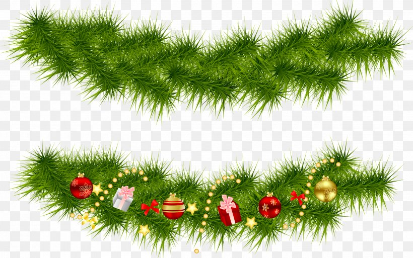 Christmas Tree Garland Clip Art, PNG, 2600x1628px, Christmas, Branch, Christmas Decoration, Christmas Lights, Christmas Ornament Download Free