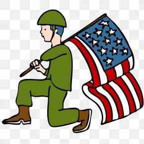 Kneel Soldiers - Veterans Day Parade Soldier Clip Art PNG