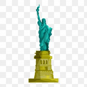 Statue Of Liberty - Statue Of Liberty Eiffel Tower Monument Clip Art PNG