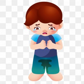 Sad Boy - Boy Cartoon Clip Art PNG