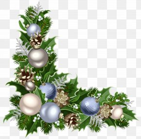 Christmas Deco Corner With Decorations Picture - Christmas Decoration Christmas Ornament Santa Claus PNG