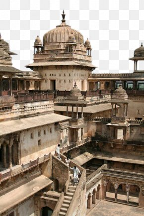Indian Architecture - Jahangir Mahal, Orchha Maheshwar The Red Fort Temple PNG