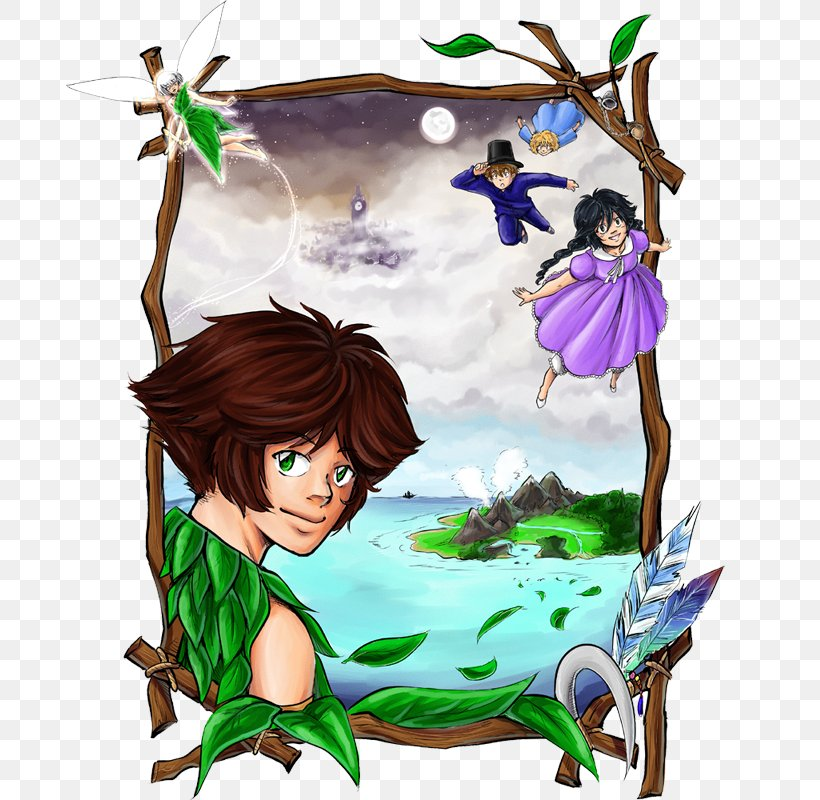 Fairy Peter Pan Plant Clip Art, PNG, 690x800px, Watercolor, Cartoon, Flower, Frame, Heart Download Free
