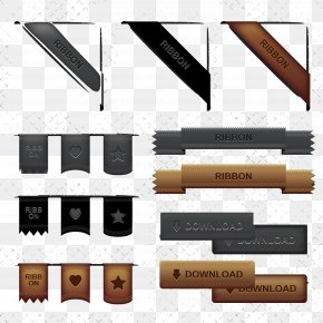 Metal Style Web Corner - Adobe Illustrator PNG