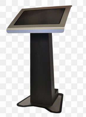 Podium Computer Monitor Accessory - Lectern Table Furniture Pulpit Technology PNG
