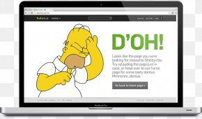 404 Error - Homer Simpson D'oh! Image Television Blog PNG