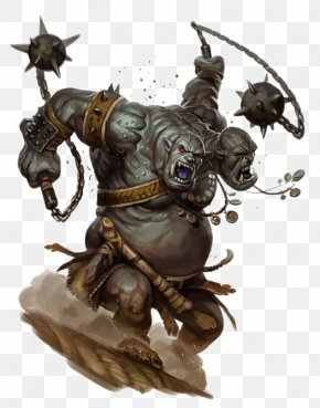 Double Orc Warrior Meteor Hammer - Pathfinder Roleplaying Game Dungeons & Dragons Goblin Monster Troll PNG