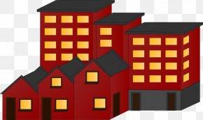 Flat Cliparts - Apartment House Building Renting Clip Art PNG