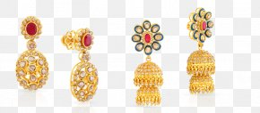 Indian Jewellery - Earring Jewellery Gold Jewelry Design PNG