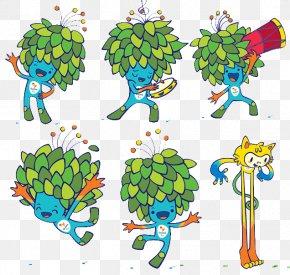 Rio Mascot Cartoon Background - 2016 Summer Olympics Opening Ceremony Rio De Janeiro Paralympic Games Mascot PNG