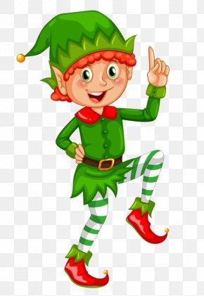 Green Elf - Santa Claus Christmas Elf Clip Art PNG