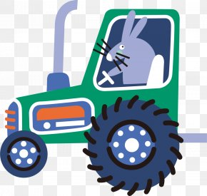 Cartoon Farm Tractor - Tractor Farm Cartoon PNG