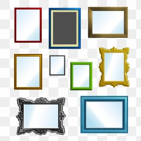 Rectangular Mirror And Picture Frames - Picture Frame PNG
