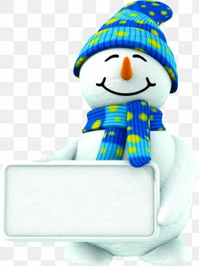 Free Winter Cute Blue Snowman Pull Material - Snowman Christmas Party Standee Stock Photography PNG