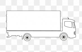 White Truck Vector Outlines - White Car Automotive Design Truck PNG