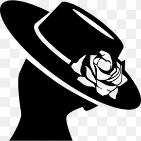 Hat - Woman With A Hat Silhouette PNG