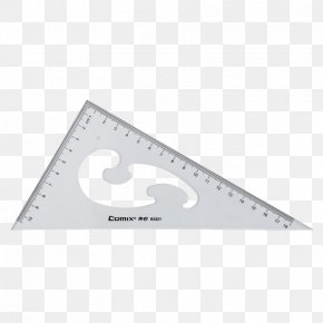 A Right-angle Triangle Ruler - Triangle Set Square Right Angle PNG