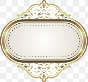 Continental Gold Frame - Picture Frame Computer File PNG