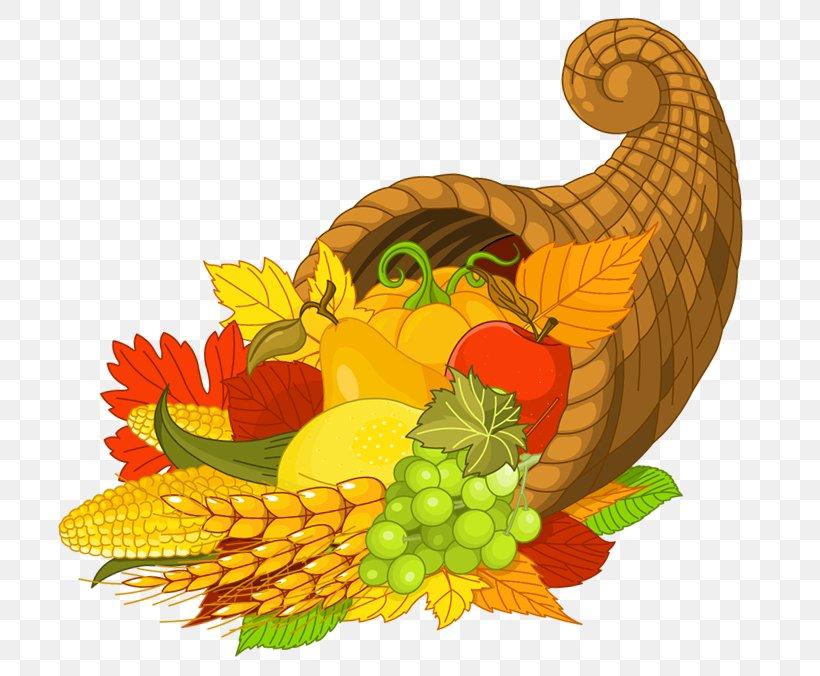 Cornucopia Thanksgiving Clip Art, PNG, 755x676px, Thanksgiving, Cornucopia, Cuisine, Food, Fruit Download Free