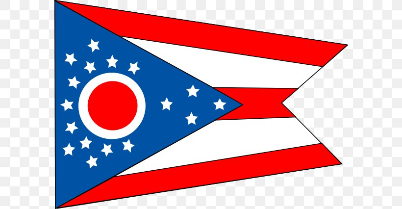 Flag Of Ohio Flag Of The United States Clip Art, PNG, 600x426px, Ohio, Area, Flag, Flag Of Alabama, Flag Of Kuwait Download Free