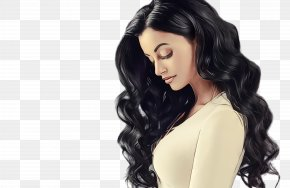 Costume Chin - Hair Black Hair Hairstyle Long Hair Wig PNG
