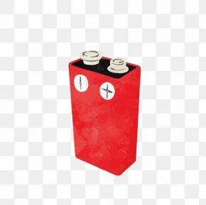 Cartoon Prismatic Battery - Battery Cartoon PNG