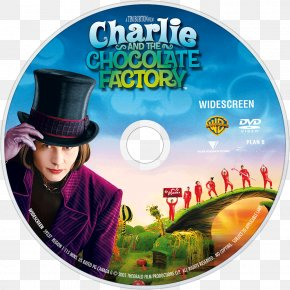 Charlie And The Chocolate Factory - Charlie And The Chocolate Factory Willy Wonka DVD Johnny Depp PNG
