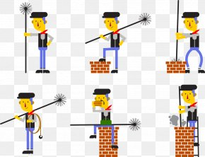 Cleaning The Chimney - Chimney Sweep Euclidean Vector Modern Chimney Cleaning PNG
