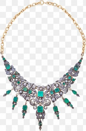 Emerald - Emerald Necklace Earring Jewellery Gold PNG