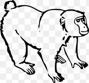 Chimpanzee - Monkey Ape Drawing Clip Art PNG