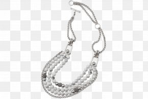 Necklace - Necklace Jewellery Pearl Silver Chain PNG