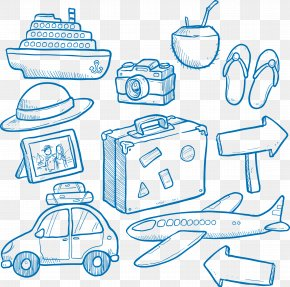 Hand Drawn Travel Vehicle - Travel Tourism Cruise Ship Euclidean Vector PNG