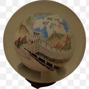Great Wall Of China - Great Wall Of China Painting Glass Paperweight Crystal Ball PNG