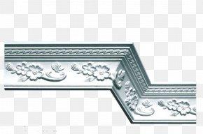 Gypsum Line Modern Style - Gypsum Ceiling Plaster Molding PNG