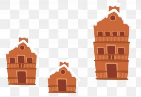 Vector Winter House Roof Snow - Snow Winter Cottage PNG